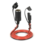 12V Car Charger Cigarette Lighter Extension Cord Female Socket with Quick Disconnect Wire Harness