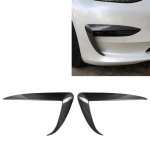 2 PCS Tesla Model 3 Car Carbon Fiber Front Air Knife Decorative Sticker