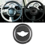 2 PCS Car Steering Wheel R Chassis Carbon Fiber Decorative Sticker for BMW MINI R55 / R56 / Countryman R60 / Paceman R61