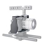 YELANGU C6 Camera Video Cage Stabilizer for Sony A6000 / A6300 / A6500 / A6400 (Black)