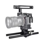 YELANGU CA7 YLG0908A-A Handle Video Camera Cage Stabilizer for  Sony A7K & A7X & A73  & A7S & A7R & A7RII & A7SII (Black)