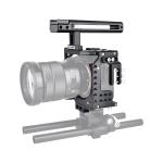 YELANGU CA7 YLG0908A Handle Video Camera Cage Stabilizer for Sony A7K & A7X & A73  & A7S & A7R & A7RII & A7SII (Black)