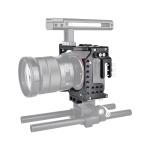 YELANGU CA7 YLG0908A-A01 Video Camera Cage Stabilizer for Sony A7K & A7X & A73  & A7S & A7R & A7RII & A7SII (Black)