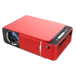 T6 2000ANSI Lumens 1280P LCD Technology Mini Portable HD Theater Projector, Android Version, Support HDMI, AV, VGA, USB (Red)