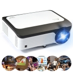 L6 5 inch 200 ANSI Lumen 1920 x 1080P Android 7.1 HD Bluetooth 4.0 WiFi HD Smart Projector, Support AV / VGA / HDMI / 2 x USB / RJ45