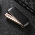 Crazy Horse Texture PU+TPU Electronic Cigarette Skin Soft Shell  for IQOS 3.0 (Black)