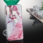 Coloured Drawing Pattern IMD Workmanship Soft TPU Protective Case For Galaxy A60(Wintersweet Marble)