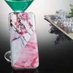 Coloured Drawing Pattern IMD Workmanship Soft TPU Protective Case For Huawei Y5 2019(Wintersweet Marble)