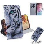 3D Colored Drawing Horizontal Flip Leather Case, with Holder & Card Slot & Wallet For Galaxy Note 10 Plus(Tiger)