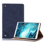 Retro Book Style Horizontal Flip Leather Case with Holder & Card Slots & Wallet for Huawei MediaPad M6 8.4 2019(Dark Blue)