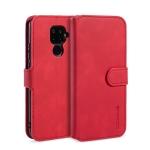 DG.MING Retro Oil Side Horizontal Flip Case with Holder & Card Slots & Wallet for Huawei Nova 5i Pro / Mate 30 Lite(Red)