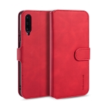 DG.MING Retro Oil Side Horizontal Flip Case with Holder & Card Slots & Wallet for Huawei Honor 9X(Red)