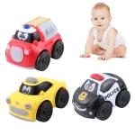 3 PCS Mini Children Toy Inertia Car, Random Color Delivery