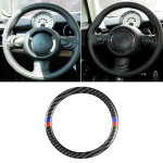 Red Blue Color Car Steering Wheel R Chassis Carbon Fiber Decorative Sticker for BMW MINI R55 / R56 / Countryman R60 / Paceman R61