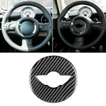 Car Steering Wheel Logo R Chassis Carbon Fiber Decorative Sticker for BMW MINI R55 / R56 / Countryman R60 / Paceman R61