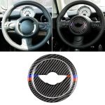 2 PCS Red Blue Color Car Steering Wheel R Chassis Carbon Fiber Decorative Sticker for BMW MINI R55 / R56 / Countryman R60 / Paceman R61