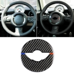 Red Blue Color Car Steering Wheel F Chassis Logo Carbon Fiber Decorative Sticker for BMW Mini Cooper F55 / F56 / F60 / Countryman F60