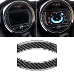 2 PCS Car F Chassis Navigation Panel Carbon Fiber Decorative Sticker for BMW Mini Cooper Countryman Clubman F54 / F55 / F56 / F60