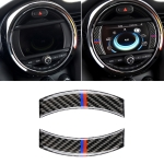 2 PCS Red Blue Color Car F Chassis Navigation Panel Carbon Fiber Decorative Sticker for BMW Mini Cooper Countryman Clubman F54 / F55 / F56 / F60