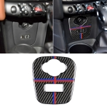 Red Blue Color Car F Chassis Cigarette Lighter Cover Panel Carbon Fiber Decorative Sticker for BMW Mini Cooper F55 / F56 / F57