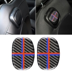 Red Blue Color Car Seat Back Handle Carbon Fiber Decorative Sticker for BMW Mini Cooper F55 / F56