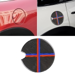 Red Blue Color Car Fuel Tank Cover Carbon Fiber Decorative Sticker for BMW Mini Cooper R50 / R52 / R55 / R56 / R57 / R58 / R59 / R60 / R61 / F55 / F56