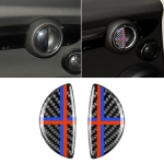2 PCS Red Blue Color R / F Universal Car Door Handle Carbon Fiber Decorative Sticker for BMW Mini R55 / R56 / R60 / R61 / F55 / F54 / F60