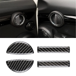 4 PCS Car F Chassis Door Handle Carbon Fiber Decorative Sticker for BMW Mini Cooper Clubman Countryman F55 / F54 / F60
