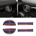 4 PCS Red Blue Color Car F Chassis Door Handle Carbon Fiber Decorative Sticker for BMW Mini Cooper Clubman Countryman F55 / F54 / F60