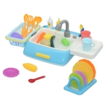 6039 MoFun Children Kitchen Appliances Toys Electric Circulating Water Dishwasher (Blue)