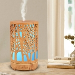 A-7401 Wood Grain Smart Home Desktop Air Humidifier Ultrasonic Atomization Water Aromatherapy Machine