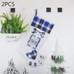 2 PCS CX20203 Creative Dog Paw Christmas Sock Gift Bag Christmas Tree Pendant Decoration (Blue)