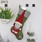 2 PCS CX20204 Faceless Doll Christmas Sock Gift Bag Christmas Tree Pendant Decoration (Green)