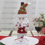 Santa Claus Pattern Wine Bottle Bag Christmas Decoration