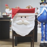 Santa Claus Pattern Dinner Table Chair Cover Christmas Decoration