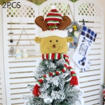 2 PCS CX20205 Elk Pattern Christmas Tree Pendant Decoration, Size: S
