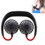 0.3W-1.2W Portable Adjustable Micro USB Charging Hanging Neck Type Aromatherapy Electric Sport Fan(Black)