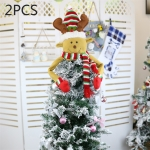 2 PCS CX20206 Santa Claus Pattern Christmas Tree Pendant Decoration, Size: S