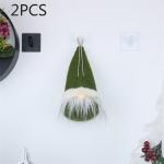2 PCS CX20211 Circle Faceless Doll Christmas Tree Pendant Decoration (Green)