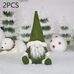 2 PCS CX20217 Faceless Doll Window Ornament Christmas Decoration (Green)