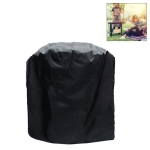 Outdoor Anti-UV Waterproof Dust-proof 210D Oxford Cloth BBQ Circle Protective Bag Charcoal Barbeque Grill Cover, Size: 58x77cm (Black)