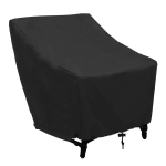 Outdoor Waterproof Dust-proof Oxford Cloth Folding Table Chairs Protective Bag Furniture Set Cover, Size: 102x79x70cm (Black)