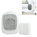 Mini Desktop USB Household Humidifying Electric Cooling Fan Self-contained Filter Element Air Conditioner Moisturizing Fan with A Set of Replaceable Filter Element (White)
