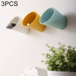 3 PCS Portable Small Things Stickable Wall Storage Box, Random Color Delivery