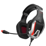 ONIKUMA K12 Over Ear Bass Stereo Surround USB + 3.5mm Plug Gaming Headphone with Microphone & LED Light(Red)