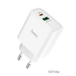 hoco C57A Fast Charger PD+QC3.0 Charger, EU Plug (White)