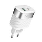 hoco C58A Prominent PD+QC3.0 Charger, EU Plug (White)