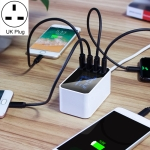 CDA30 20W 3 USB Ports + USB-C / Type-C Ports Multi-function Charger with LED Display, UK Plug
