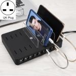 X6S 110W 3 QC 3.0 USB Ports + 5 USB Ports Smart Charger with Detachable Bezel, UK Plug