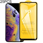 25 PCS 9H 9D Full Screen Tempered Glass Screen Protector for iPhone XI (2019)